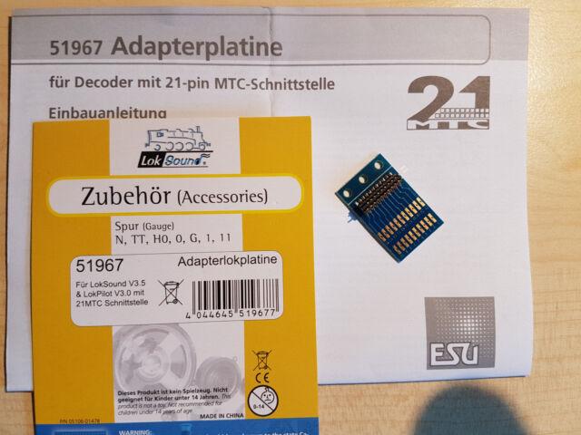 ESU 51967 21 polige MTC-Adapterplatine  NEU OVP