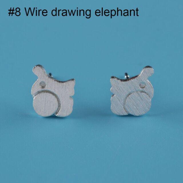 Girls Cute Ear Studs Women Earring Silver Plated Jewelry Wire ...