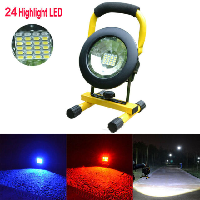 New Portable 30W 24 LED Rechargeable Flood Light Spot Work Camping Fishing Lamp