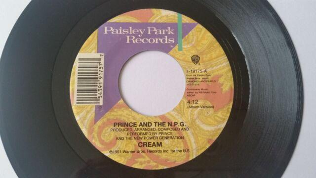 """PRINCE """"CREAM / HORNY PONY"""" 7"""" vinyl USA"""