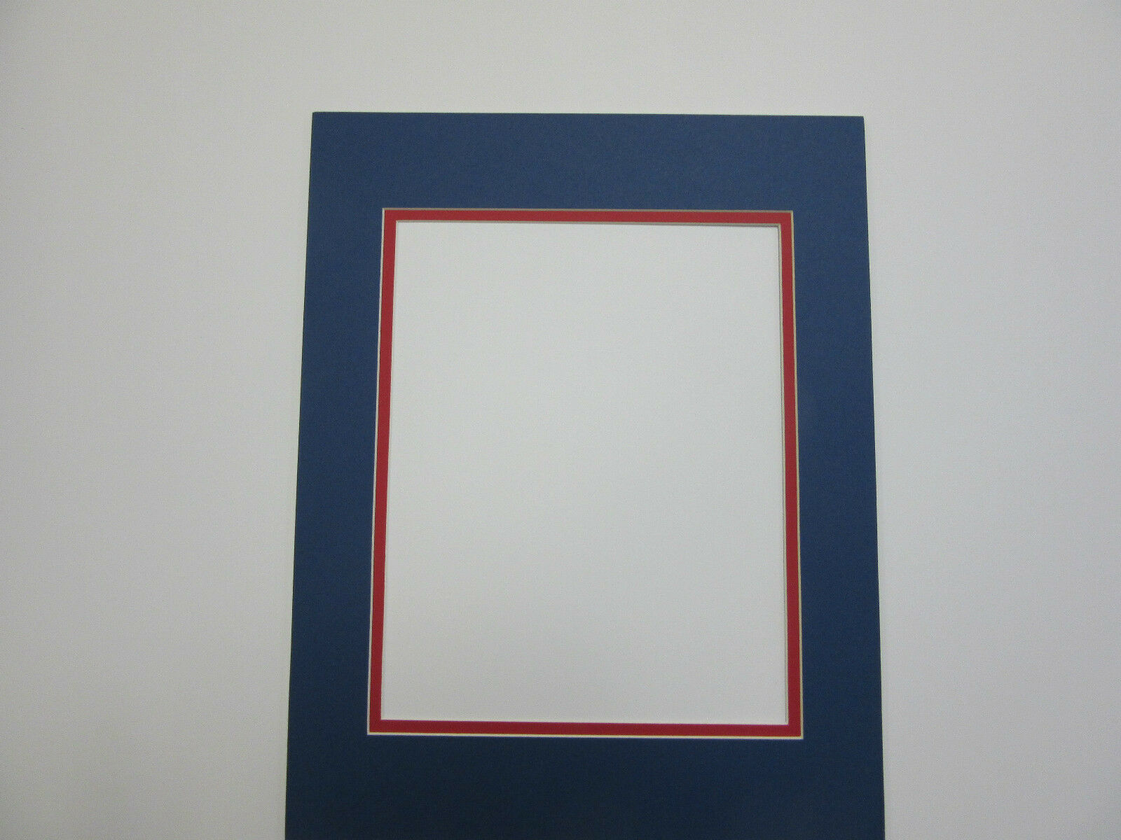 Picture frame double mat 11x14 for 8x10 photoblue with red liner brand new lowest price jeuxipadfo Gallery