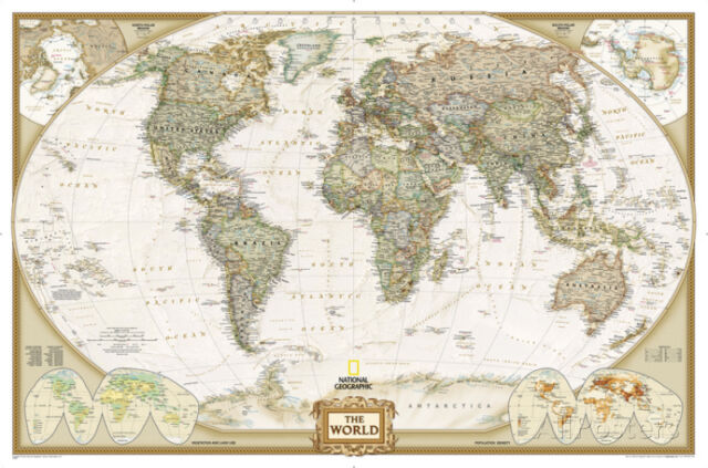 National geographic world executive map enlarged laminated national geographic world executive map enlarged laminated poster 73x48 gumiabroncs Gallery