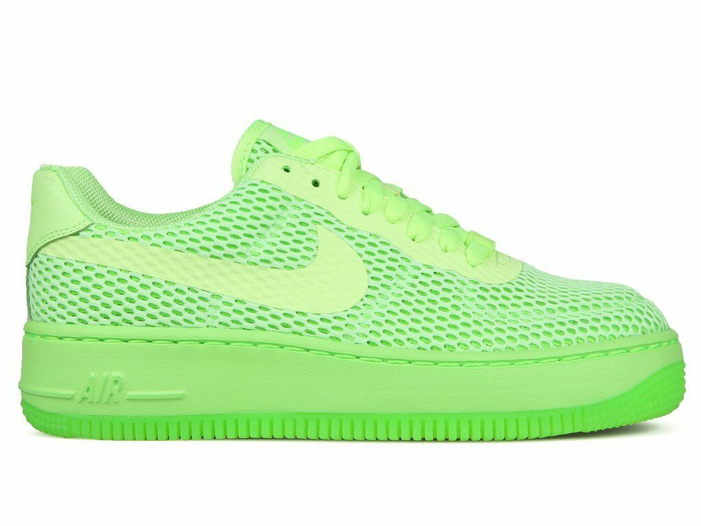 Women's Nike Low Upstep Breath Air Force 1 Ghost Green 833123-300 SIZE 8