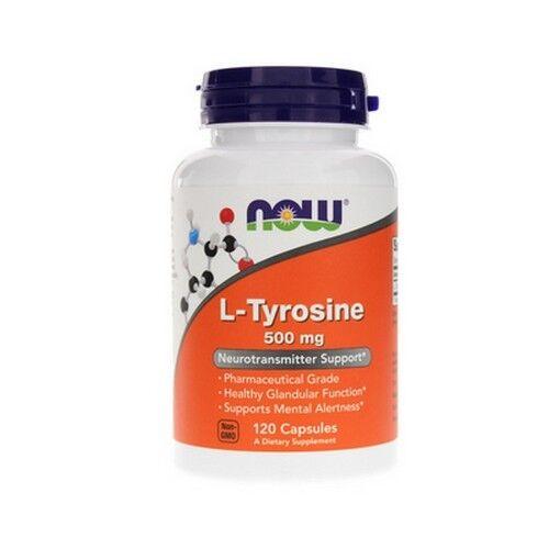 L-Tyrosin, 500mg x 120 Tabletten, NOW Foods , Stimmung / Fokus / Stress