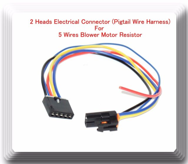 2 heads 5 wire harness pigtail connector for blower motor