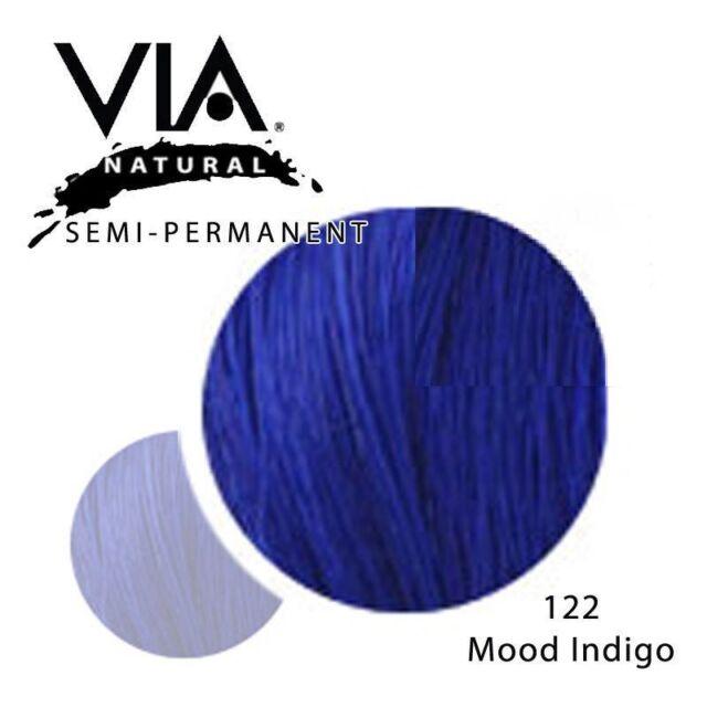 Via Natural Semi Permanent Hair Color Rinse With Aloe Vera 4oz 122