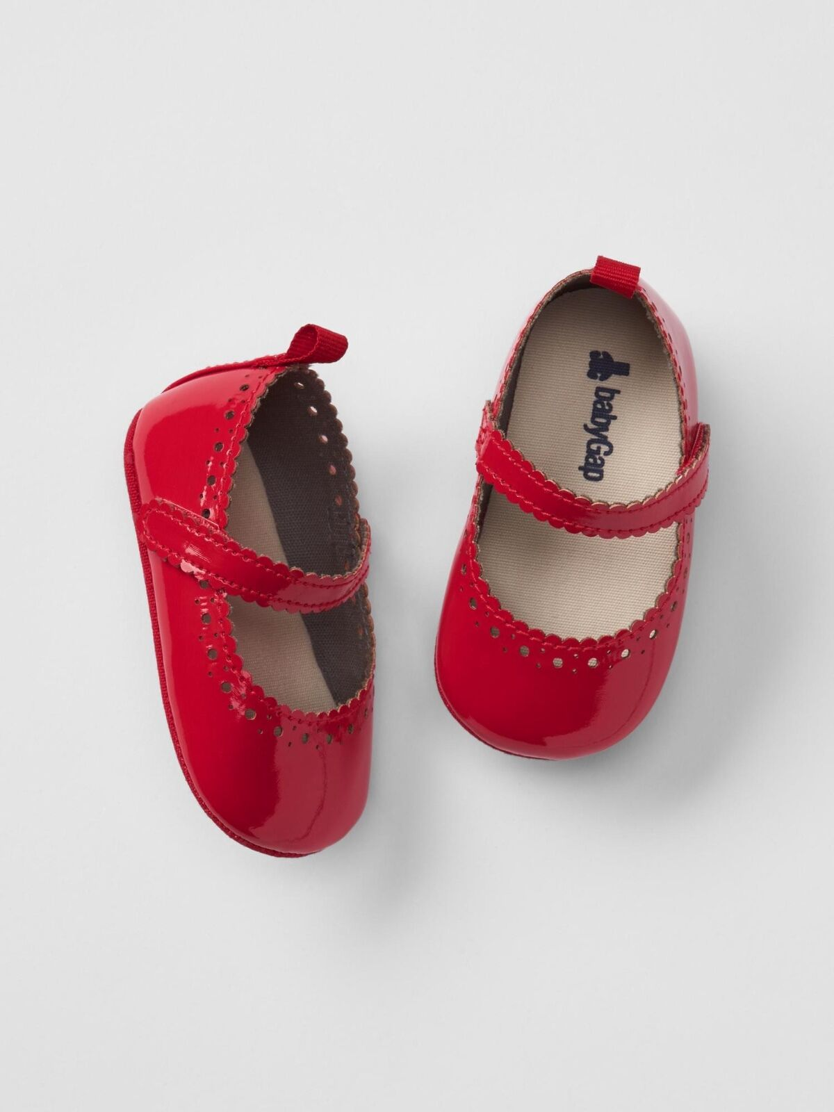 Gap Baby Girl Size 3 6 Months Patent Leather Red Mary Jane Bow Flats