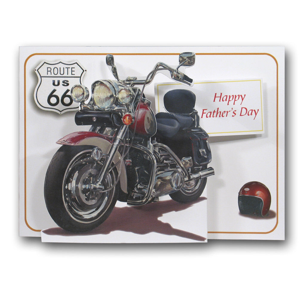 Pictoria press fathers day 3d pop up greeting card motorbike harley picture 2 of 8 kristyandbryce Gallery
