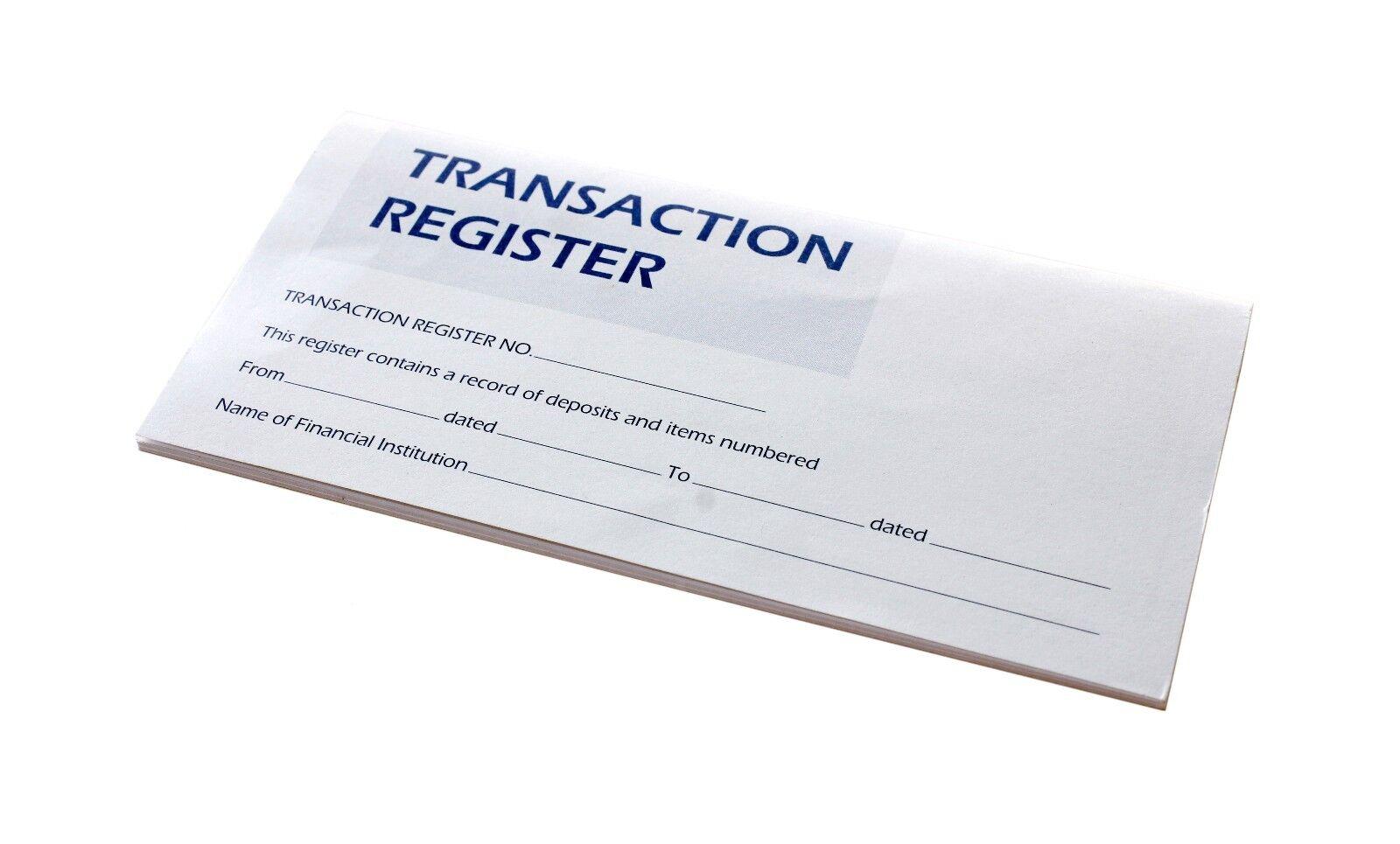 check transaction register
