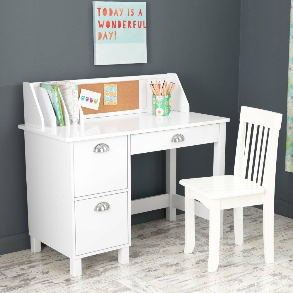 kidkraft 26704 study desk with drawers white ebay