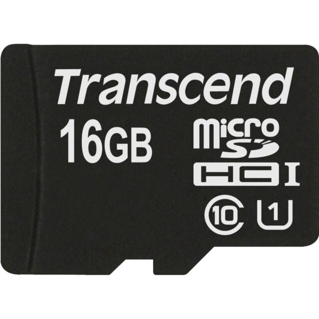 Transcend microSDHC Card UHS-I Pre 16 GB, Speicherkarte, schwarz