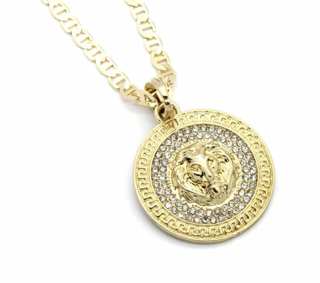 Mens medallion patern lion gold plated 24 gucci chain pendant mens medallion pattern lion gold plated 24 gucci chain pendant necklace aloadofball Gallery