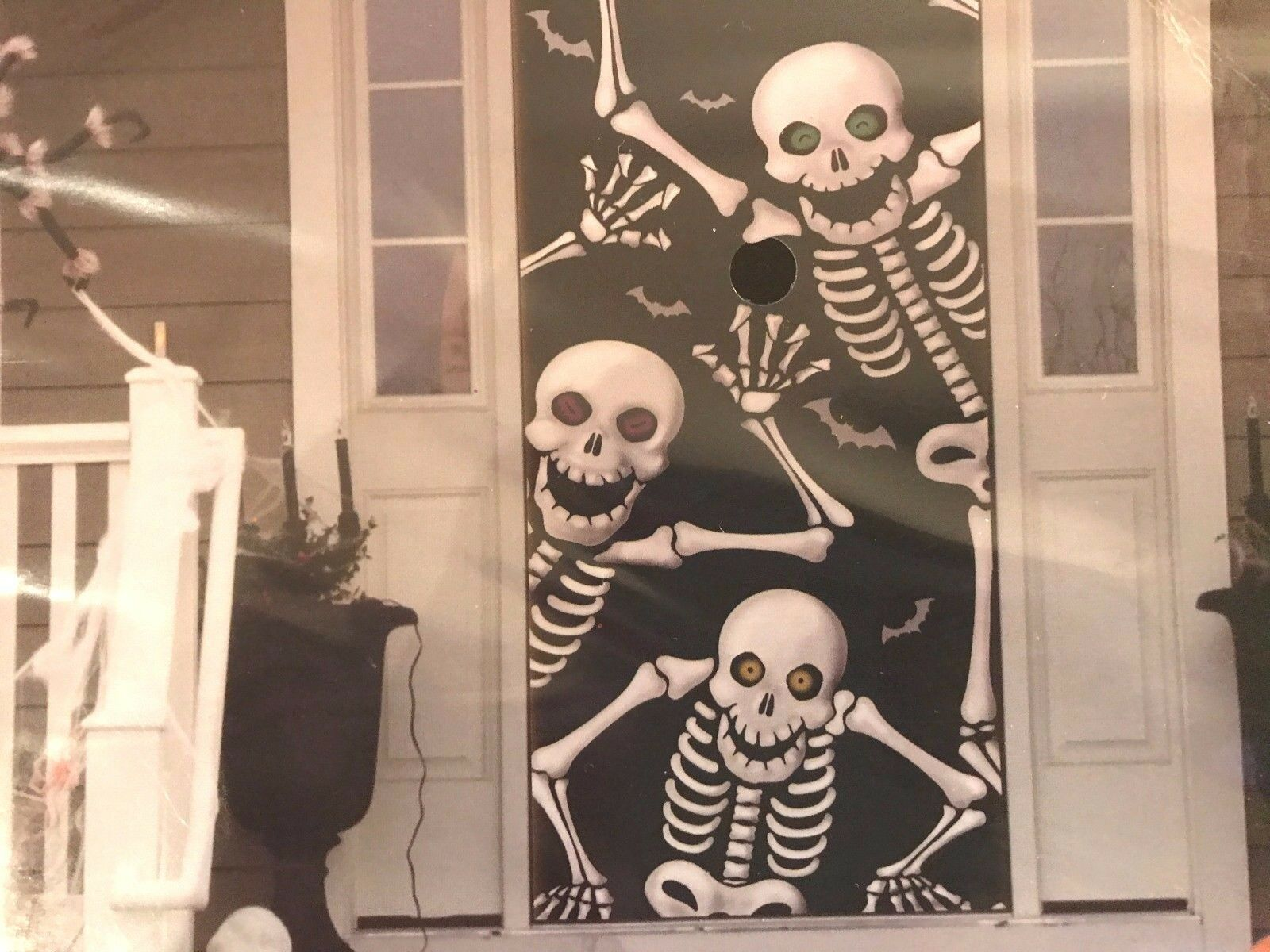 Picture 1 of 4 ... & Halloween Skeleton Door Cover Wall Decoration by Nknown | eBay pezcame.com
