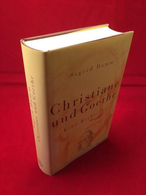 Sigrid Damm - Christiane und Goethe Eine Recherche Insel Verlag Hardcover