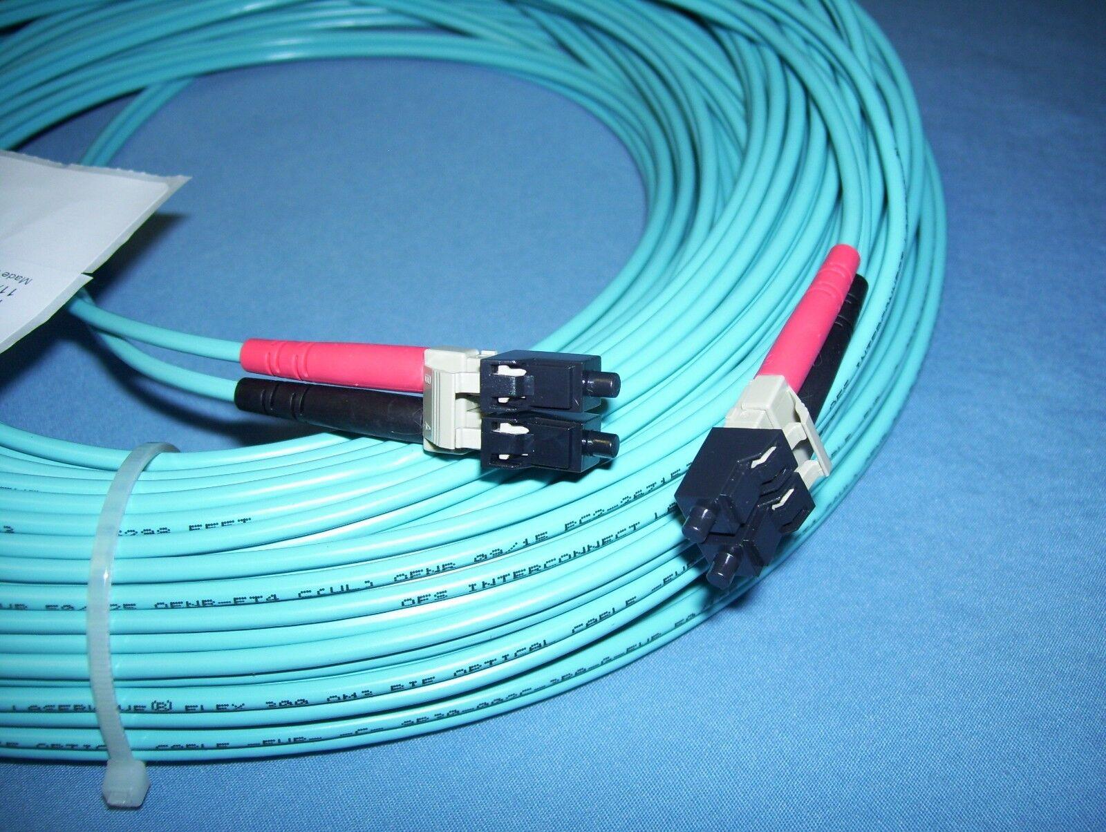 Quiktron Fiber Cord Q Series 120 FT Duplex 50um 10gig 7016279 | eBay