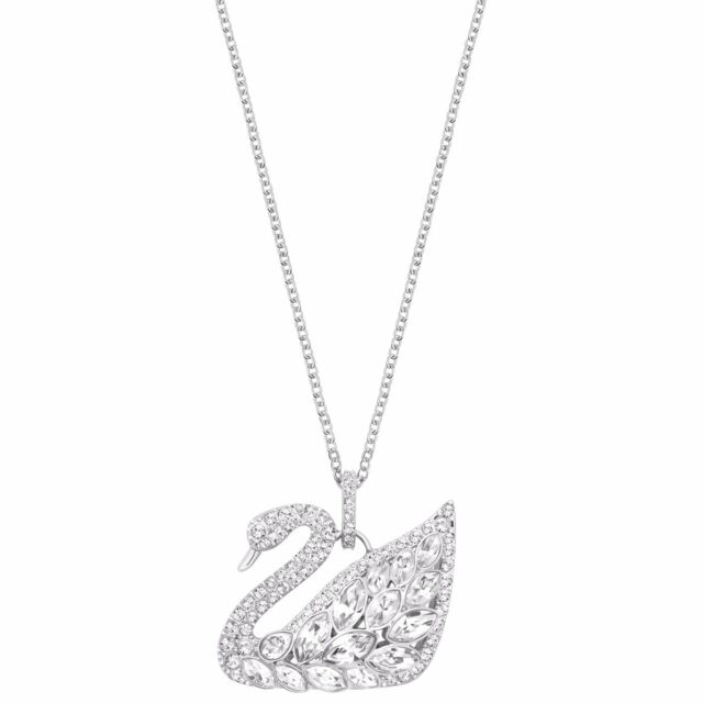 Swarovski crystal swan lake pendant 5169080 ebay swan lake crystal pendant necklace rhodium plate 2016 swarovski jewelry 5169080 aloadofball Image collections