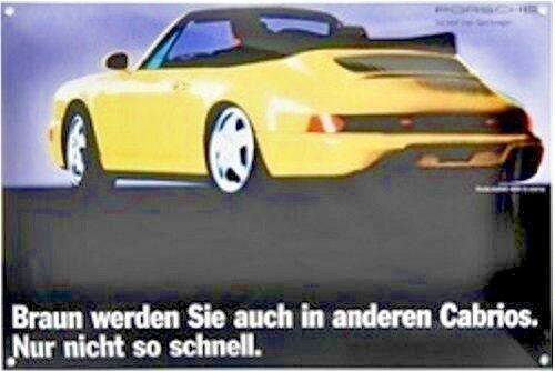 Porsche Classic Enamel Poster Wall Art Sign for The 911 (964) CAB | eBay