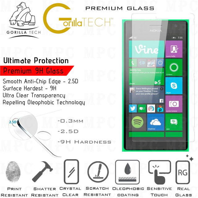 Tempered Glass Scratch Proof Film Screen Protector For Nokia Lumia 630