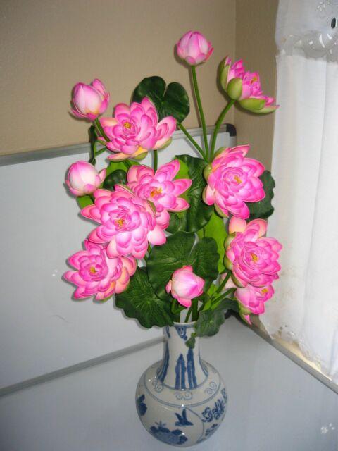 Plastic artificial lotus flower stick 40 long ebay plastic artificial lotus flower stick 40 long mightylinksfo