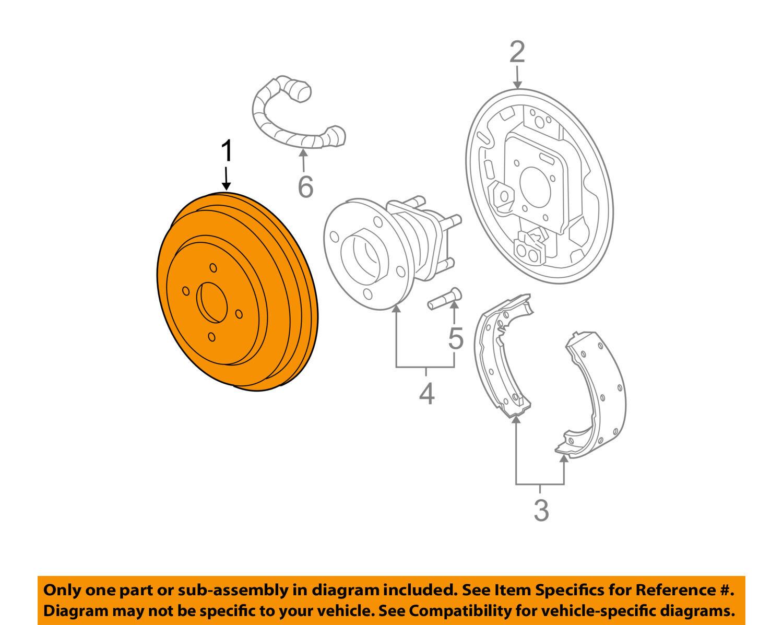 Cobalt Rear Brake Assembly Diagram Circuit Wiring And Hub 2006 Drum Chevrolet Gm Oem 06 08 Brakes 10388690 Ebay Rh Com 98 F150 Club Car