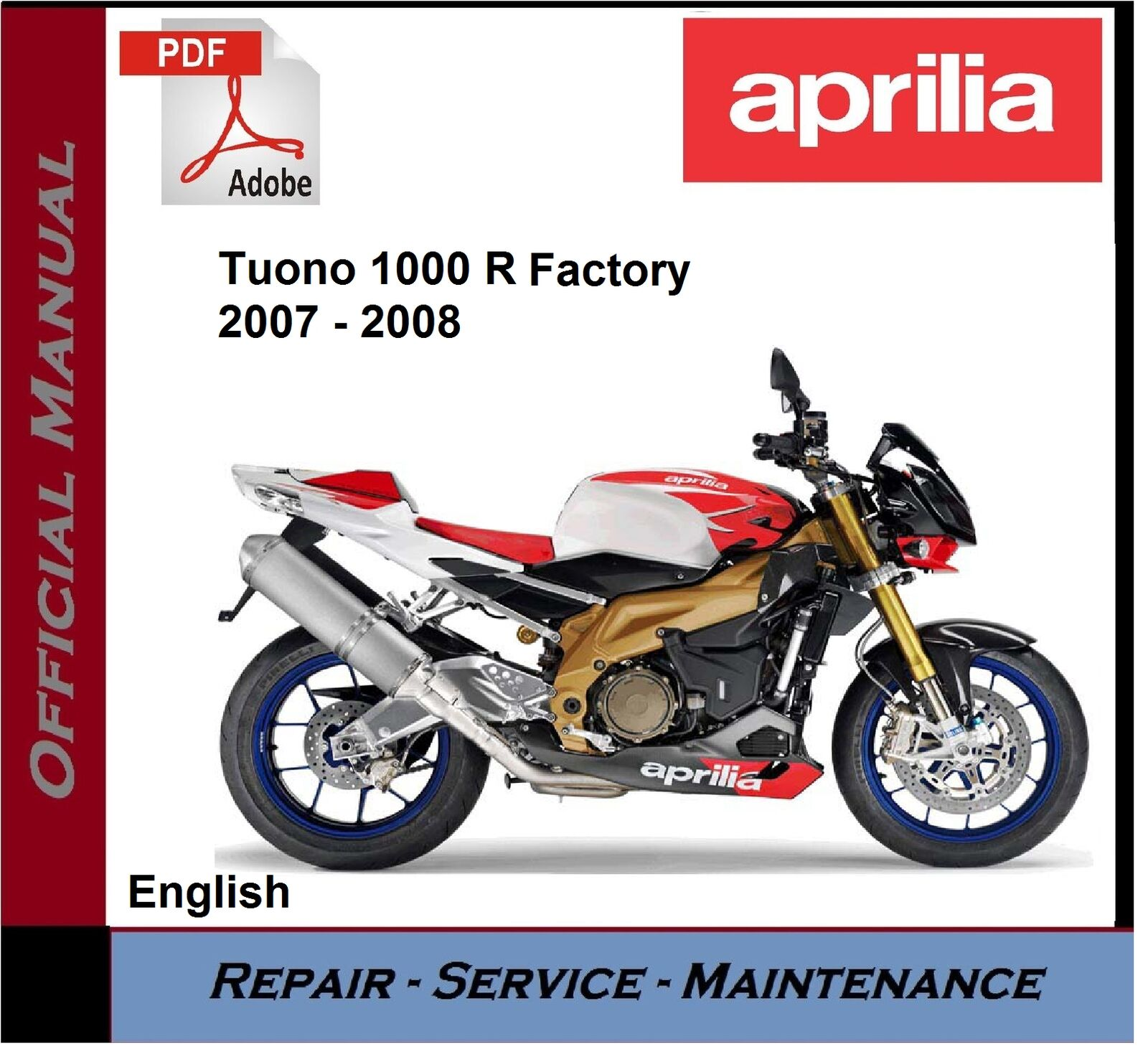 Aprilia motorcycle manuals literature ebay aprilia tuono 1000 r factory 2007 2008 workshop service repair manual fandeluxe Choice Image