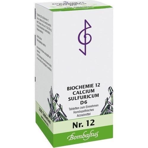 BIOCHEMIE 12 Calcium sulfuricum D 6 Tabletten 200St Tabletten PZN 1073917