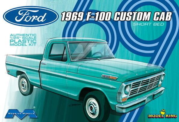 Moebius Models 125 1969 Ford F 100 Custom Cab Plastic Model Kit 1227