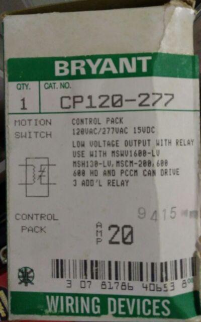 bryant wiring device cp120 277 103007 ebay rh ebay com Bryant Low Voltage Light Switches bryant wiring devices distributors