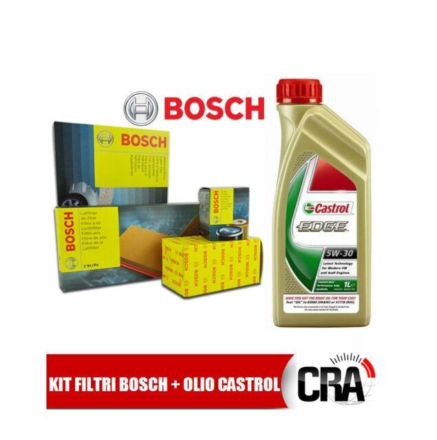 Kit de mantenimiento aceite CASTROL BORDE 5W30 5LT 4 FILTROS BOSCH AUDI A4