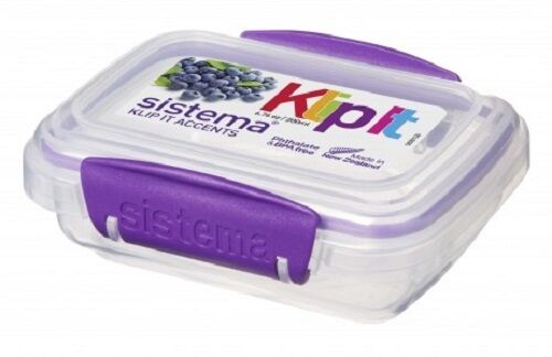 1  sc 1 st  eBay & Sistema Klip It 200ml Stackable Food Storage Box/container With Clip ...