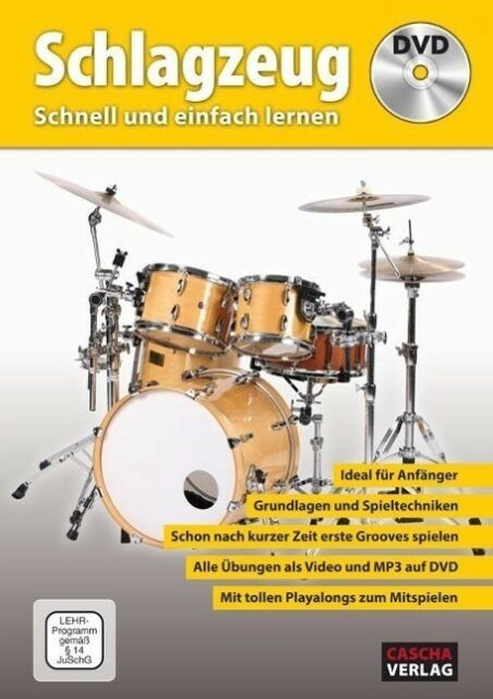 Schlagzeug - Schnell und einfach lernen + DVD - 9783866263499