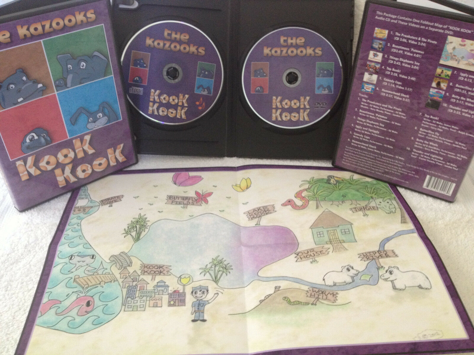 Animated Kids Music Videos DVD CD And Map Kook Kook By The - Map videos for kids