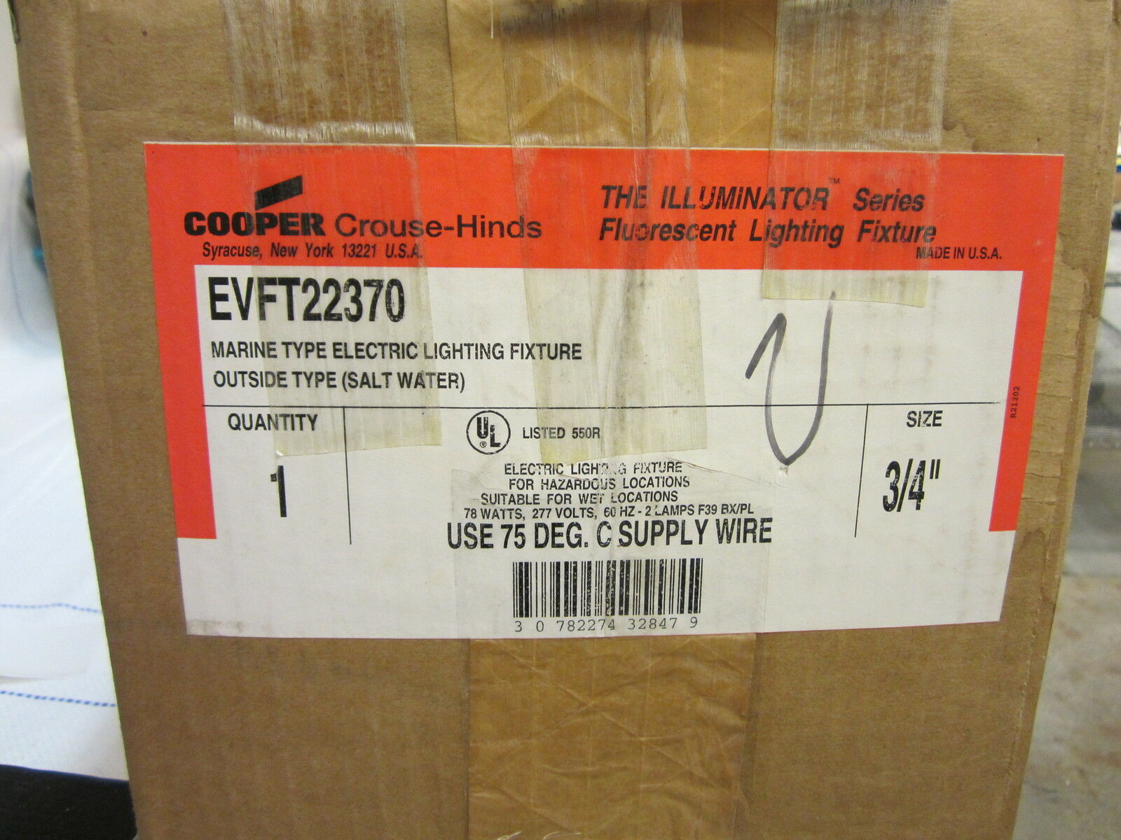 Crouse Hinds Evft22370 Illuminator 2 Bulb Fixture 3 4 Ebay Wiring 277 Volt Fluorescent Light Fixtures Get Free Image About Norton Secured Powered By Verisign