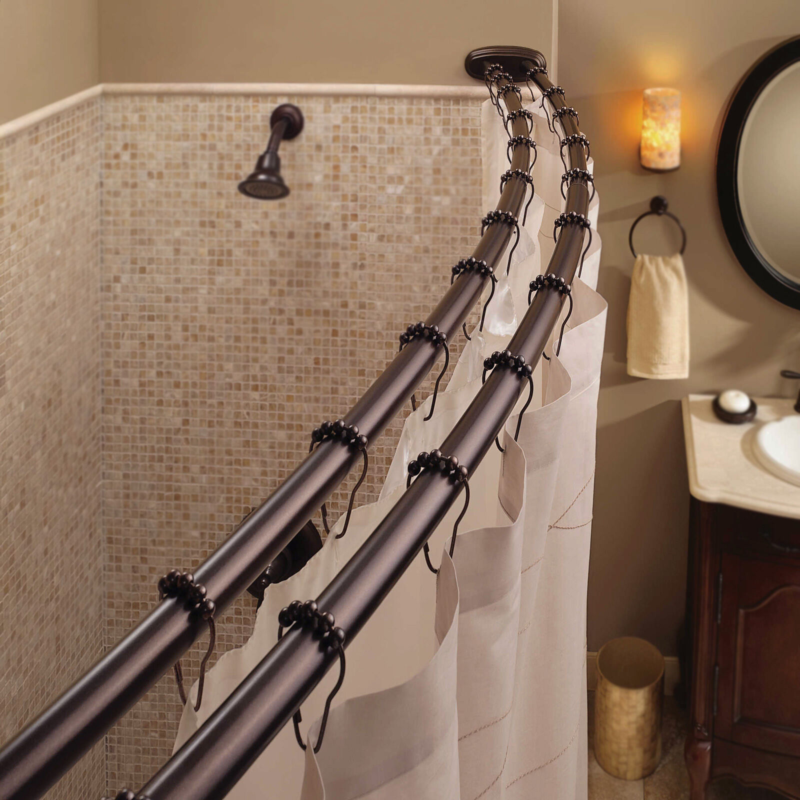 Curved Shower Rod | eBay