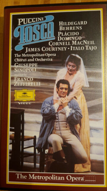 Giacomo Puccini - TOSCA - Sinopoli + Zeffirelli VHS Kassette Hi-Fi Stereo