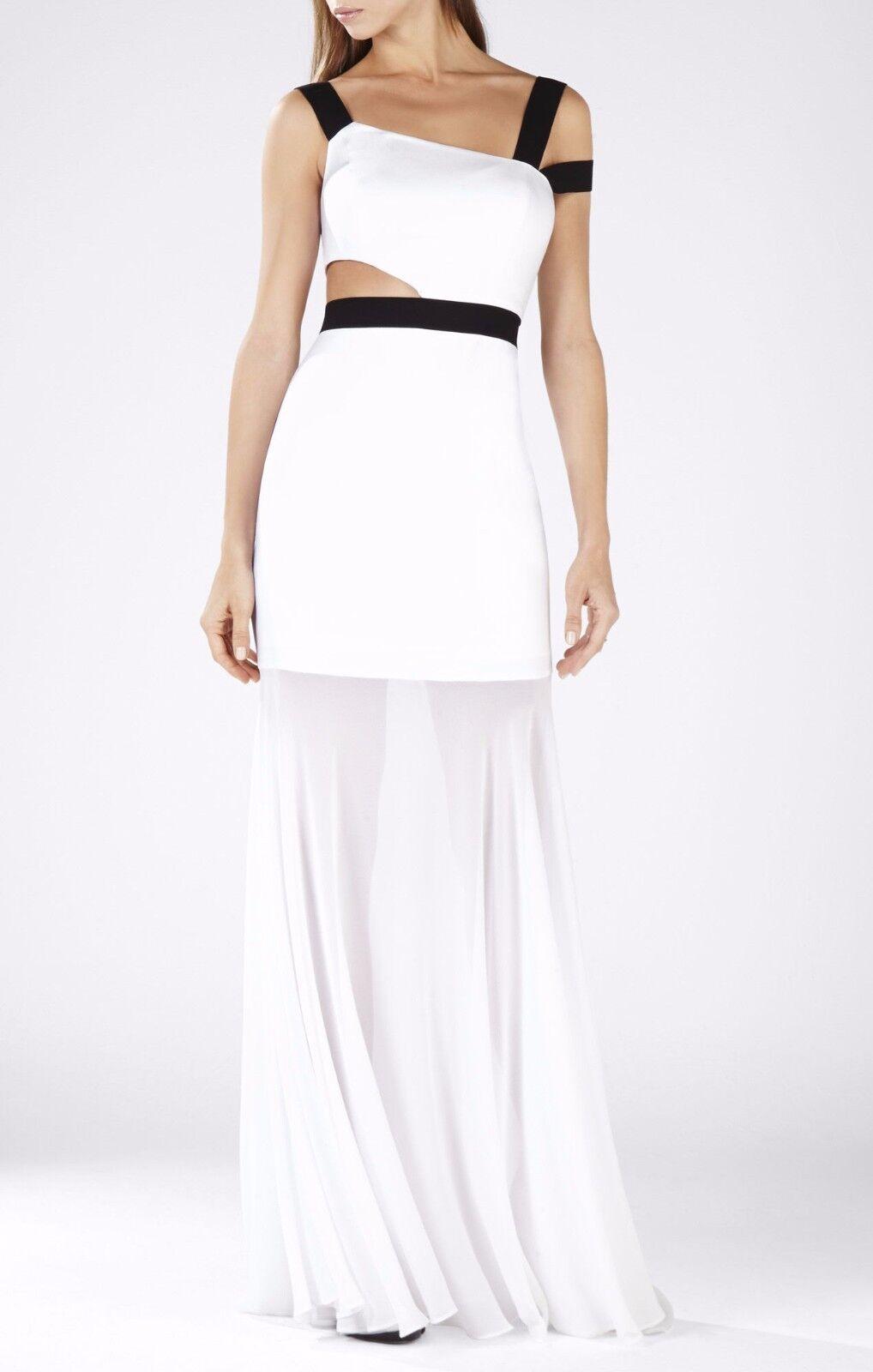 BCBG Max Azria Roxana One Shoulder Cutout-waist Gown Jgk68d78/l343a ...