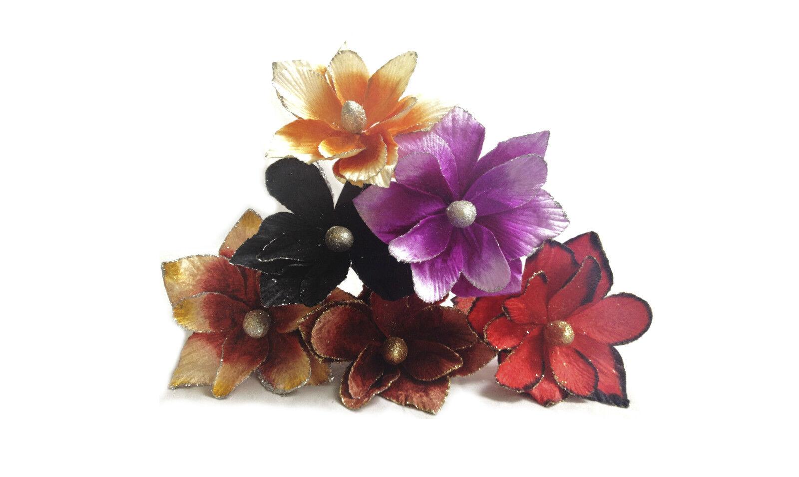 Job lot bulk buy wholesale velvet artificial flower single stem picture 1 of 5 izmirmasajfo