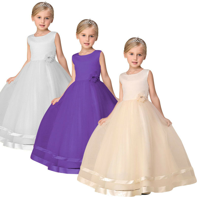 Flower Girl Dresses Birthday Wedding Bridesmaid Formal Pageant ...