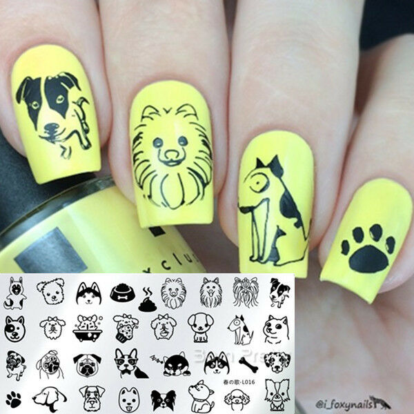 Harunouta-l014 Nail Art Stamping Image Plate Stencil Wave Line ...