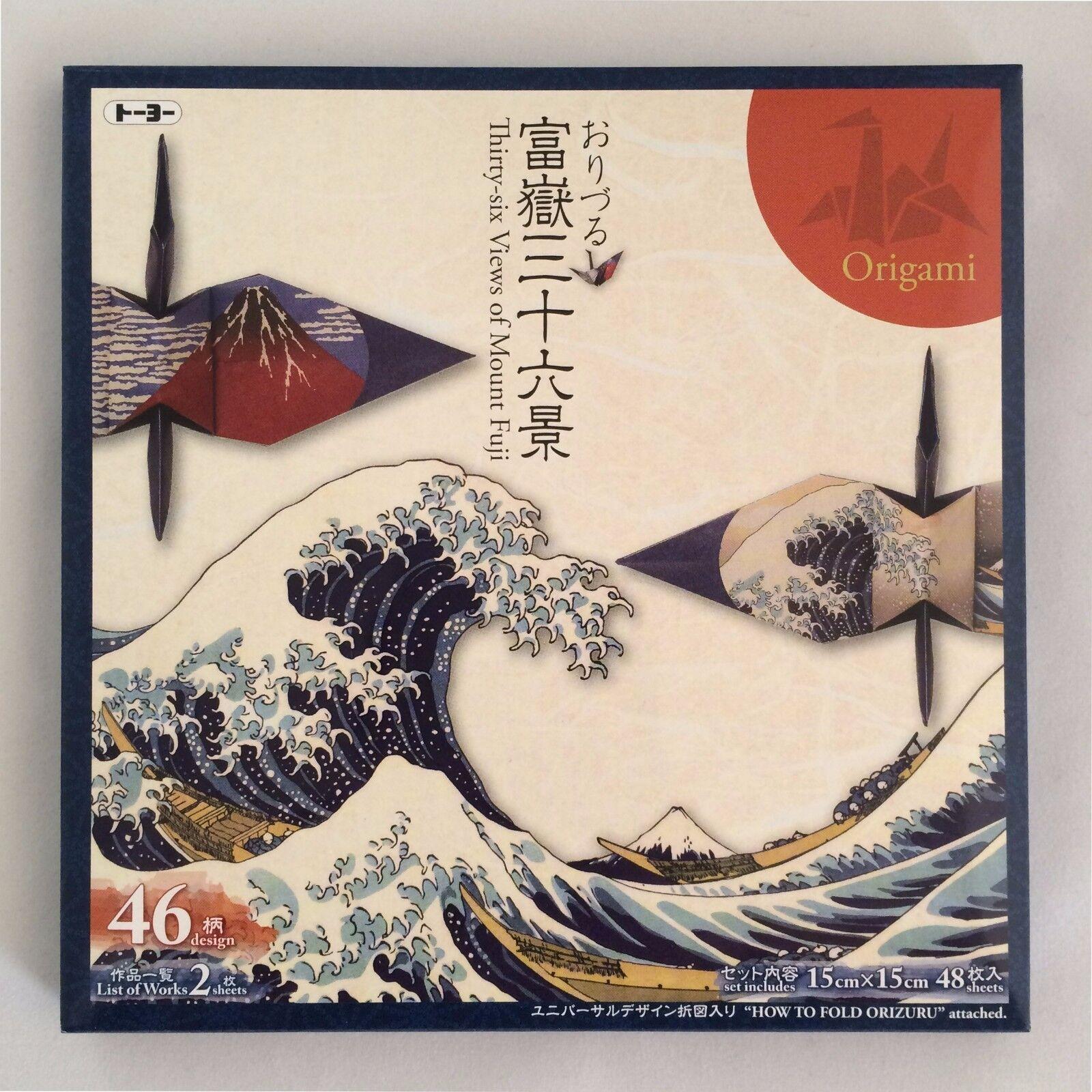 Japanese origami paper hokusai thirty six views of mtfuji 48 picture 1 of 5 jeuxipadfo Images