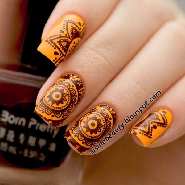 Born Pretty Dark Brown Nail Art Stamping Polish Nail Stamp Varnish ...