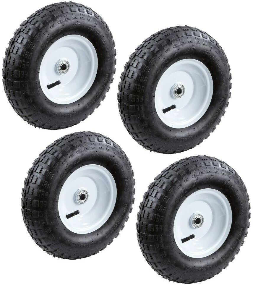 Lovely 13 In. Pneumatic Tires Replacement Wheels Lawn Garden Cart Hand Truck  (4 Pack