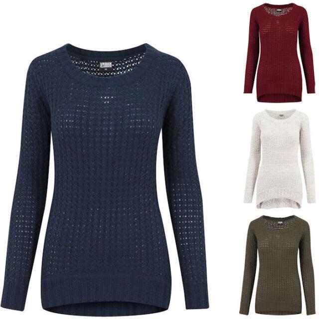 urban Classics Ladies Long Wideneck Frauen Pullover s Offwhite   eBay f3792f44b5