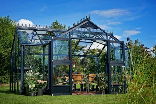 juliana gew chshaus orangerie 15 2m alu anthrazit 3mm sicherheitsglas topneu ebay. Black Bedroom Furniture Sets. Home Design Ideas