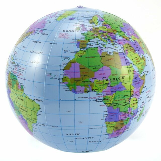 Inflatable globe 40cm atlas world map earth beach ball geography inflatable globe 40cm atlas world map earth beach ball geography blow up toy gumiabroncs Gallery
