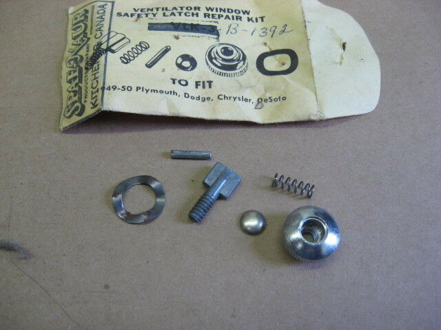 Picture 1 of 1 & Vent Window Latch Repair Kit 1949 -50 DeSoto CHRYSLER Dodge Plymouth ...