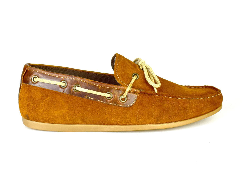 Red Tape sable cuir brun Hommes Décontracté Chaussures bateau xTJemRz