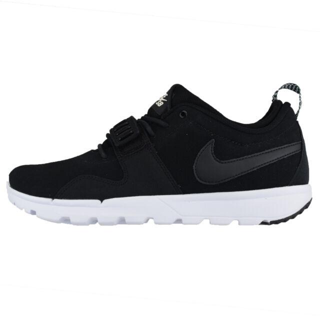 Nike SB Trainerendor Leather Black/White/Black Original Packing