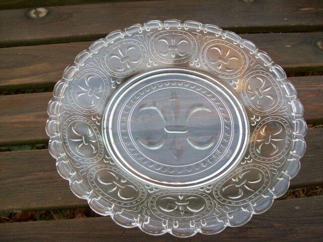 Teller Lilie Glas Glasteller Dekor Keksteller Kuchenteller 27 home art Dänemark