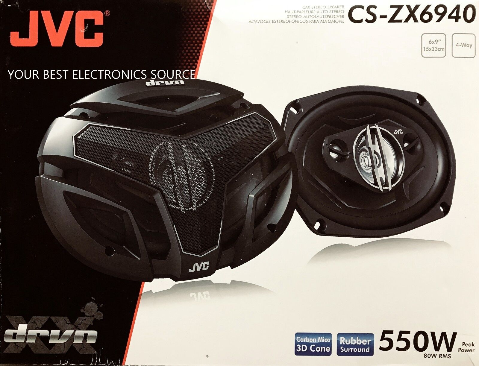 """NEW JVC CS-ZX6940 4-Way DRVN Series Coaxial Speakers w// PEI Tweeters 6/""""x9/"""""""